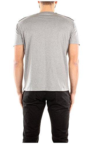 Camiseta Manga Corta Valentino Hombre Algodón Gris y Muticolor KV0MG04K3CS080 Gris S