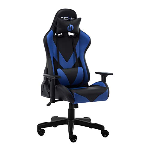 TECHNI SPORT Gaming Chair Collection - Techni Sport TS-92 Office-PC Gaming Chair Blue - Gaming Chair - High Chair - (TS92, Blue) Uncategorized