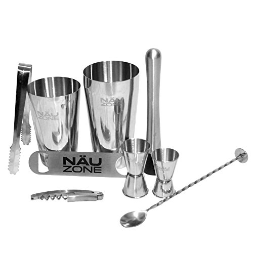 NUZone-Boston-Shaker-Barware-Set-with-Bar-Kit-Supplies-and-Bar-Tools-for-Professional-Drink-Mixing