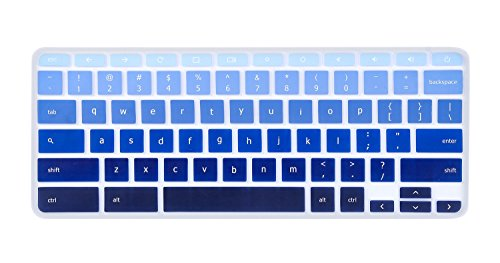 for Acer Chromebook 15 Keyboard Cover, Ultra Thin Anti Dust Keyboard Skin for 15.6 Acer Chromebook 15 CB3-531 CB5-571 C910 Chromebook US Layout, Gradual Blue