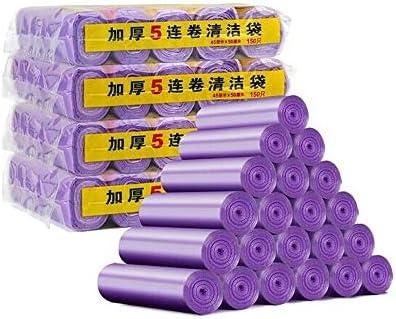 SHKRRB ごみ袋、PE材料ごみ袋、平口使い捨てキッチンごみ袋、キッチンオフィスに適しています. 45 * 50CM、600、20ロール (Color : Purple)