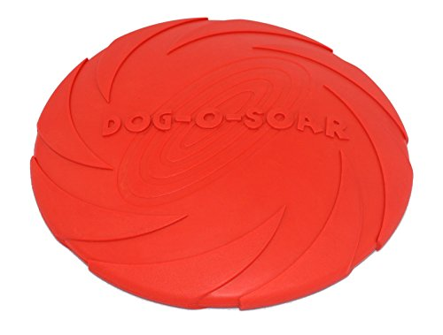Puppy Frisbee Flying Disc Toy,Everfriend, Floatable,Large-8.5″,Red