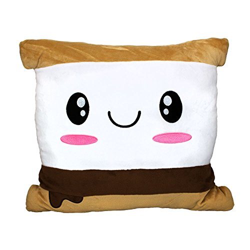 Scentco Smillows - Scented Stuffed Plush Accent Throw Pillow - S'Mores Marshmallow