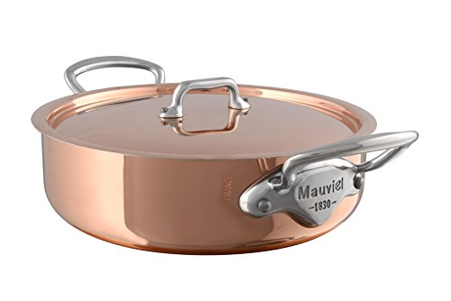 Mauviel Made In France M'Heritage Copper 150s 6130.25 3.4-Quart Rondeau with Lid and Cast Stainless Steel Handle (Mauviel Dutch Oven compare prices)