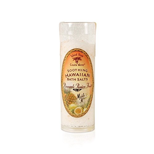 Island Soap & Candle Works Bath Salt Tube, Pineapple Passion Fruit