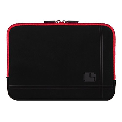 """Sumaclife 10"""" Microsuede Hybrid Padded Sleeve Pouch Case [Red] for HP 10.1 Inch Tablet (Salte 