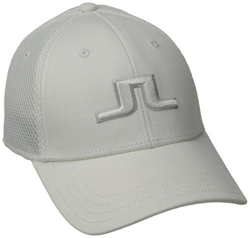 J.Lindeberg Men's Bon Flexi Twill Cap, White, Medium