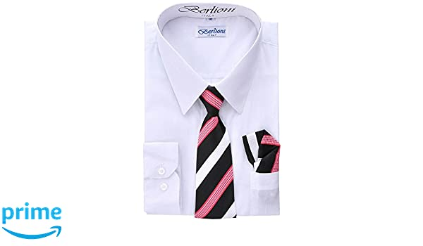 Boys Dress Shirt Short Sleeve School Uniform Solid Kids Size 4-20 Formal Party