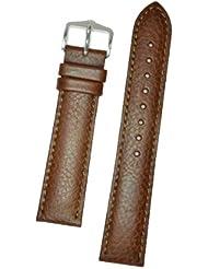 Hirsch Forest Brown Soft Calf Leather Watch Strap 179202-10-20