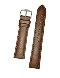Hirsch Forest Brown Soft Calf Leather Watch Strap 179202-10-20