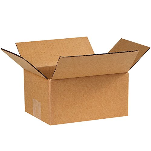 "Partners Brand P864 Corrugated Boxes, 8""L x 6""W x 4""H, Kraft (Pack of 25) from Partners Brand"
