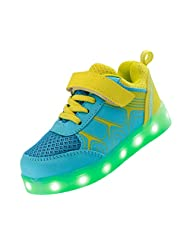 Merveilleux Kid Boy Girl Low Top LED Light Up Sport Shoes USB Charging Flashing Sneakers #K7