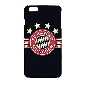 3D FC Bayern Munchen Classic Vintage Hard Plastic Phone Case for Iphone 6 Plus/6s Plus (5.5 inch) FC Bayern Logo