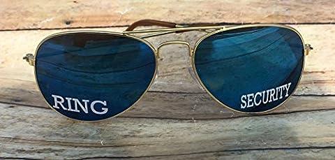 Ring Bearer Gift - Sunglasses - Ring Security Sunglasses - Ring Bearer Keepsake - Outdoor Wedding Prop - Beach Wedding