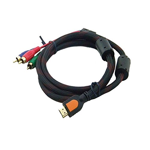 Caxico 3M 10Ft 19 Pin HDMI Type A Male to 3 RCA Male Plug Audio Video - Male Cable Component Video