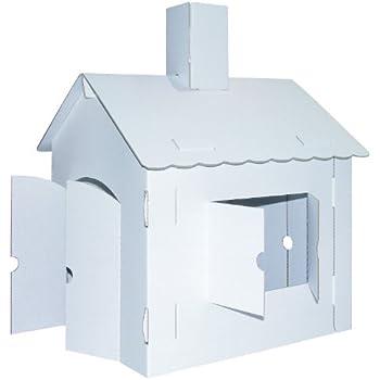 KREUL Joypac 39106-Craft Cardboard Playhouse, XL, 44.5x 41x 57cm
