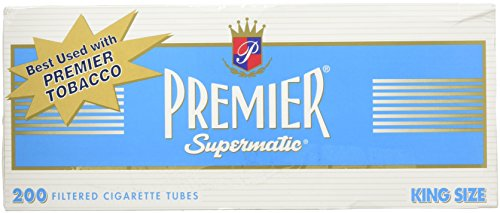 - Premier King Size Light Cigarette Tubes - 5 Boxes
