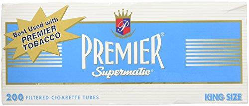 (Premier King Size Light Cigarette Tubes - 5 Boxes )