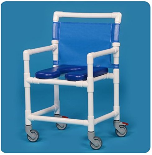 IPU VL OF9200 MS MID-Size (Wide) Rolling Shower Chair 350LBS Capacity (Blue) by IPU