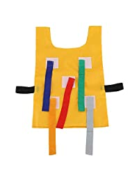 Kids School Pull Tails Games Vest Catch Tails Game Oxford Cloth Wear-Resistant Safe Waistcoat Outdoor Educational Sports Toys Kindergarten Equipment Waistcoat for Children Kids(Yellow)