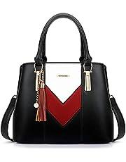 Pomelo Best Damen Handtasche Mehrfarbig gestreift V-förmiges Design