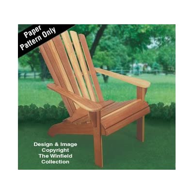 Adirondack Chair Wood Project Plan: Arts, Crafts & Sewing
