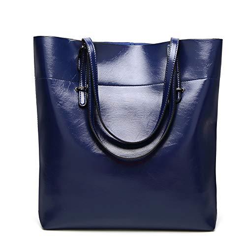 Fourre Vintage Pour blue Tout Sac à épaule Navy Femmes Grande Véritable Les Capacité dm0083 Gros Mesdames Les Sima Sacs Palace à Main 1x7644wnF