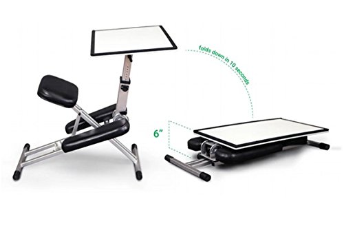 The Edge Desk System Ergonomic Adjustable Kneeling Desk