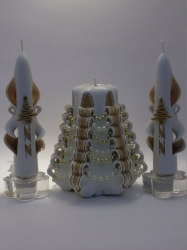 Gold Christmas Tree Candle Set - Tree Shaped Candle