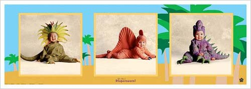 Diapersaurs Art Print Poster by Tom Arma -