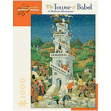 Pomegranate ArtPiece Jigsaw Puzzles 20 in. x 29 in. Tower of (Tower Of Babel Craft)