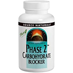 Source Naturals Phase 2 Carbohydrate Blocker 500mg, May Help to Control Your Carbs, 30 Tablets