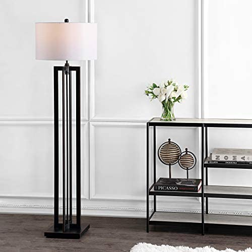 Safavieh Lighting Collection Tanya Tower Black 58.5-inch Floor Lamp