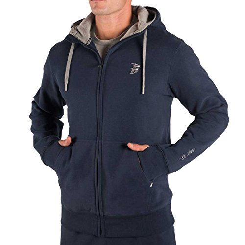 itness Hoodie, Scuba Neck, Storm Flap, 3 Piece Hood, Hidden Mobile Phone Stash Pocket. Double Stitched, Thumb Holes, No Scratchy Labels, 60/40 Cotton (Large, Navy) ()