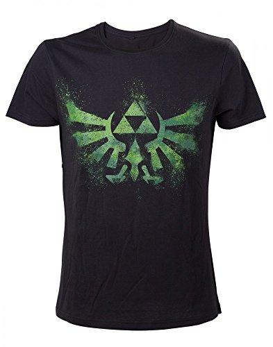 Zelda Green Logo T-Shirt | Original Nintendo | Schwarz aus Baumwolle | Damen Herren Unisex