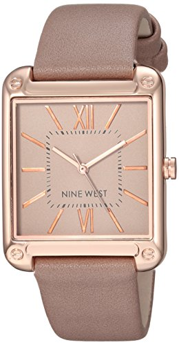 Nine West Women's NW/2116TPRG Rose Gold-Tone and Taupe Strap Watch from Nine West