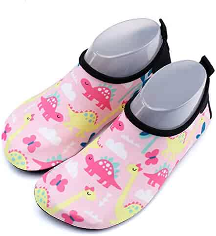 65186f97facb Camlinbo Kid s Swim Water Shoes Boys and Girls Quick-Drying Indoor Soft  Bottom Beach Socks
