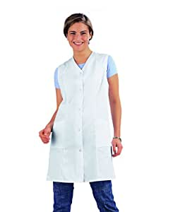 Casaca 7/8 sin mangas, color blanco, talla 40, apta para uso industrial