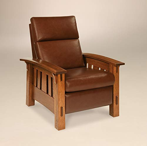 Solid Wood Recliner Chair Mission Arts & Crafts (Quarter Sawn White Oak) ()