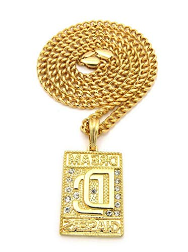 Werrox New ICED Out Dream Chasers Pendant 5mm/24 Cuban Link Chain Necklace - MSP383CC | Model NCKLCS - 4561 | ()