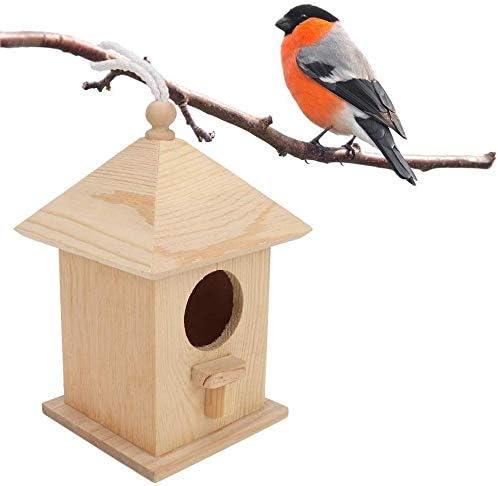 HEEPDD Casa para pájaros, Casitas para pájaros de Madera con Nido de pájaros Colgando de la Percha para la decoración del Patio del jardín al Aire Libre: Amazon.es: Productos para mascotas