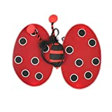 Red Ladybird Fair Wings and Deeley Boppers Perfect For Parties ,Birthdays ,Hen do ,Fancy Dress Suitable for Adults and Children