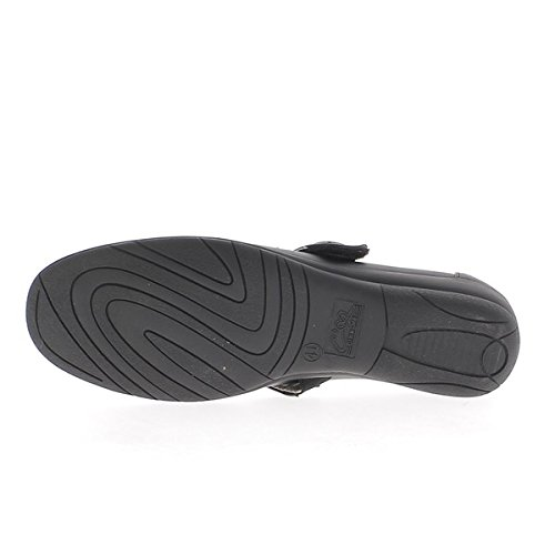 Tacchi comodi grandi ballerine nero offset 3,5 cm