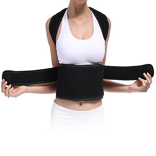 Pevor Shoulder Back Waist Support Adjustable Back Support Posture Correction Belt With Waist Support Wide Straps Unisex S by Pevor