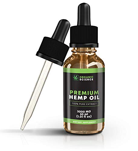 Hemp Oil Drops for Pain Relief Anxiety Sleep Support (3000mg | 30ml) Non  GMO Organic Grown & Made in USA, 100% Legal, Best Pure Herbal Supplements,
