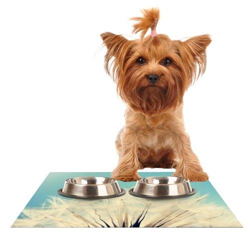 Kess InHouse Beth Engel Shes a Firecracker  Feeding Mat for Pet Bowl, 18 by 13