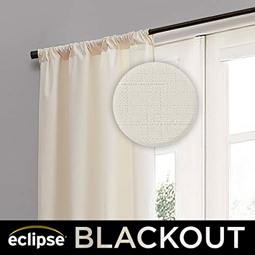 Eclipse 10707042X063IVY Kendall 42-Inch by 63-Inch Thermaback Room Darkening Single Panel, Ivory