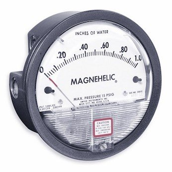 Dwyer Magnehelic Series 2000 Differential Pressure Gauge, Range 0.05-0-0.20''WC by Dwyer