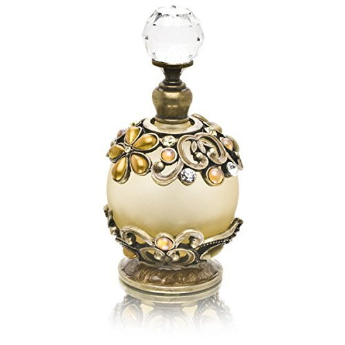 Perfume Bottle (Flowers with Clear Rhinestones) PB-827 by...