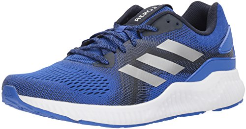 adidas Men's Aerobounce ST m Running Shoe, Hi-Res Blue/Metallic Silver/Collegiate Navy, 11 M US